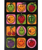 RugStudio presents Fun Rugs Smiley World Fruitti SW-18 Multi Machine Woven, Good Quality Area Rug