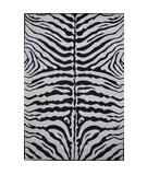 RugStudio presents Fun Rugs Supreme Zebra Skin TSC-045 Black White Machine Woven, Good Quality Area Rug