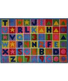RugStudio presents Fun Rugs Supreme Numbers & Letters TSC-137 Multi Machine Woven, Good Quality Area Rug
