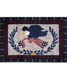 RugStudio presents Fun Rugs Supreme American Eagle TSC-139 Multi Machine Woven, Good Quality Area Rug