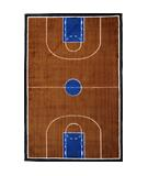 RugStudio presents Fun Rugs Supreme Basketball Court TSC-152 Multi Machine Woven, Good Quality Area Rug