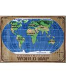 RugStudio presents Fun Rugs Supreme World Map TSC-153 Multi Machine Woven, Good Quality Area Rug