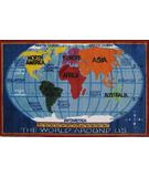 RugStudio presents Fun Rugs Supreme Kids World Map TSC-161 Multi Machine Woven, Good Quality Area Rug