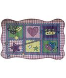 RugStudio presents Fun Rugs Supreme Fairy Quilt TSC-220 Multi Machine Woven, Good Quality Area Rug