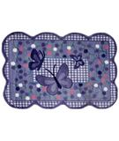 RugStudio presents Fun Rugs Supreme Purple Butterfly TSC-225 Multi Machine Woven, Good Quality Area Rug