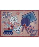 RugStudio presents Fun Rugs Supreme All Stars Girls TSC-231 Multi Machine Woven, Good Quality Area Rug