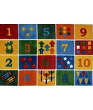 RugStudio presents Fun Rugs Supreme Number Blocks TSC-232 Multi Machine Woven, Good Quality Area Rug