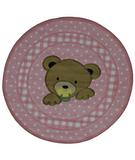 RugStudio presents Fun Rugs Supreme Teddy Center Pink TSC-238 Multi Machine Woven, Good Quality Area Rug