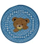 RugStudio presents Fun Rugs Supreme Teddy Center Blue TSC-239 Multi Machine Woven, Good Quality Area Rug