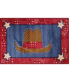 RugStudio presents Fun Rugs Supreme Cowboy Quilt TSC-245 Multi Machine Woven, Good Quality Area Rug