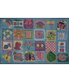 RugStudio presents Fun Rugs Supreme Funky Girls Quilt TSC-247 Multi Machine Woven, Good Quality Area Rug