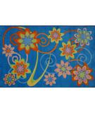 RugStudio presents Fun Rugs Supreme Flower Burst TSC-256 Multi Machine Woven, Good Quality Area Rug