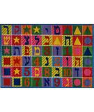 RugStudio presents Fun Rugs Supreme Hebrew Numbers & Letters TSC-500 Multi Machine Woven, Good Quality Area Rug
