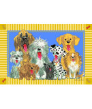 RugStudio presents Fun Rugs Wags and Whiskers The Dogs of Duckport WW-03 Machine Woven, Good Quality Area Rug