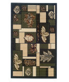RugStudio presents Linon Capri Bc02 Green / Brown Machine Woven, Good Quality Area Rug