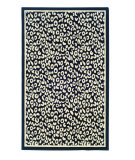 RugStudio presents Linon Capri Bc04 Black / White Machine Woven, Good Quality Area Rug