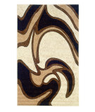 RugStudio presents Linon Capri Bc05 Black / Beige Machine Woven, Good Quality Area Rug