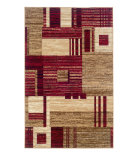 RugStudio presents Linon Capri Bc16 Red / Beige Machine Woven, Good Quality Area Rug