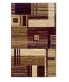 RugStudio presents Linon Capri Bc20 Burgundy / Beige Machine Woven, Good Quality Area Rug