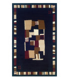 RugStudio presents Linon Capri Bc21 Black / Brown Machine Woven, Good Quality Area Rug