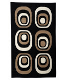 RugStudio presents Linon Capri Bc32 Black / Beige Machine Woven, Good Quality Area Rug