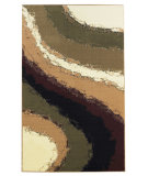 RugStudio presents Linon Capri Bc39 White / Burgundy Machine Woven, Good Quality Area Rug