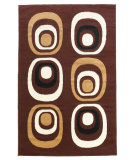 RugStudio presents Linon Capri Bc46 Brown / White Machine Woven, Good Quality Area Rug