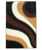 RugStudio presents Linon Capri Bc47 Black / Brown Machine Woven, Good Quality Area Rug