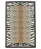RugStudio presents Linon Capri Bc48 Black / White Machine Woven, Good Quality Area Rug