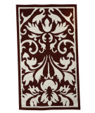 RugStudio presents Linon Capri Bc61 Red / White Machine Woven, Good Quality Area Rug
