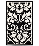 RugStudio presents Linon Capri Bc62 Black / White Machine Woven, Good Quality Area Rug