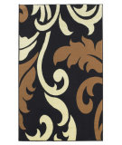 RugStudio presents Linon Capri Bc87 Black / Beige Machine Woven, Good Quality Area Rug