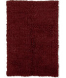 RugStudio presents Linon 3a Flokati Flk-3am03 2000grams / Burgundy Area Rug