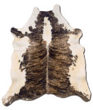 RugStudio presents Linon Cowhide Chexwb Brown Area Rug