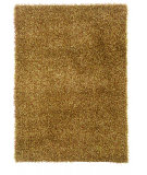 RugStudio presents Linon Confetti Ci03 Grass Green / Brown Hand-Tufted, Good Quality Area Rug