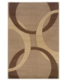 RugStudio presents Linon Corfu Cu01 Tan / Brown Machine Woven, Good Quality Area Rug
