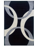 RugStudio presents Linon Corfu Cu03 Black / Grey Machine Woven, Good Quality Area Rug