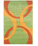 RugStudio presents Linon Corfu Cu06 Lime / Goldenrod Machine Woven, Good Quality Area Rug