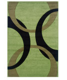 RugStudio presents Linon Corfu Cu07 Lime / Black Machine Woven, Good Quality Area Rug