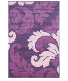 RugStudio presents Linon Corfu Cu09 Purple / Baby Pink Machine Woven, Good Quality Area Rug