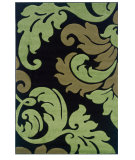 RugStudio presents Linon Corfu Cu13 Black / Lime Machine Woven, Good Quality Area Rug