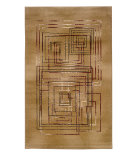 RugStudio presents Linon Dunaray Dun06 Beige / Burgundy Machine Woven, Good Quality Area Rug