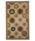RugStudio presents Linon Dunaray Dun17 Beige / Green Machine Woven, Good Quality Area Rug