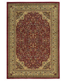 RugStudio presents Linon Elegance Ee05 Red - Ivory Machine Woven, Good Quality Area Rug