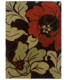 RugStudio presents Linon Florence Fl08 Black / Cinnamon Hand-Tufted, Good Quality Area Rug