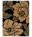 RugStudio presents Linon Florence Fl09 Black / Sand Hand-Tufted, Good Quality Area Rug