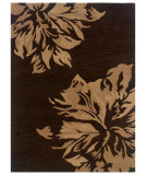 RugStudio presents Linon Florence Fl10 Chocolate / Sand Hand-Tufted, Good Quality Area Rug