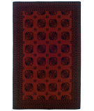 RugStudio presents Linon Gem Buchara Red / Black Machine Woven, Good Quality Area Rug