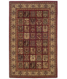RugStudio presents Linon Gem Baktiar Red / Ivory Machine Woven, Good Quality Area Rug