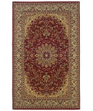 RugStudio presents Linon Gem Tabriz Red / Ivory Machine Woven, Good Quality Area Rug